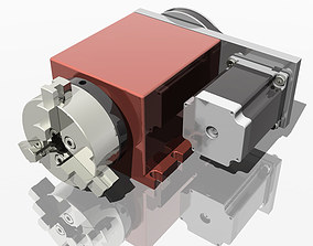 CNC Router Rotational Axis the 4th Axis A axis 3D