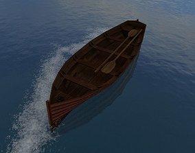 3D asset Rowboat