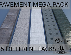 3D PBR Modular Lowpoly Pavement Mega Pack