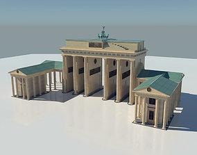 3D model realtime Brandenburg Gate Berlin