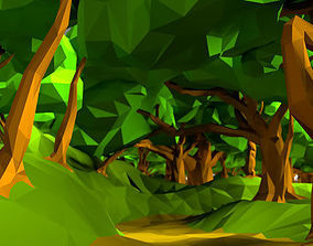 Low Poly Tree Pack 2 3D asset low-poly