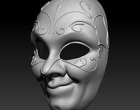 Venecian mask 01 3D print model
