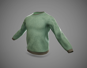 T-Shirt with long sleeves 3D model