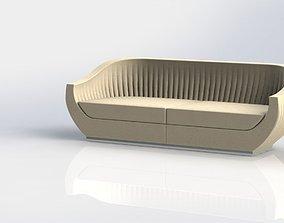 3D model modern shell sofa
