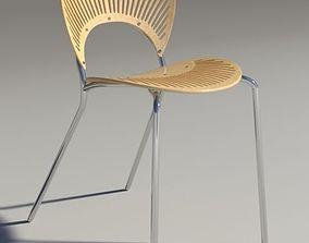 Chair Trinitad Style Wood iray 3D model