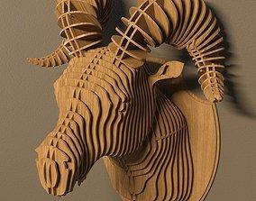 3D model Ram head