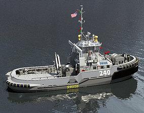 3D Military Tugboat ASD navy
