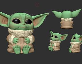 3D model Adorable Baby Yoda - The Mandalorian