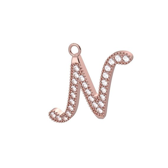 Letter pedant necklace silver