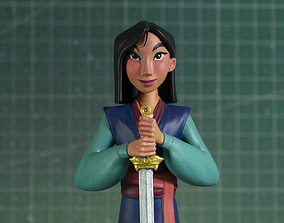 3D print model Mulan - Fan Art - Miniature Statue