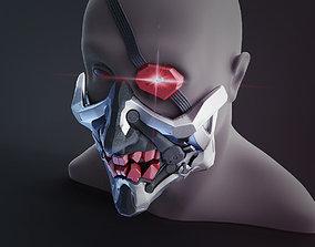 Cyberpunk Demon Ninja Mask 3D printable model