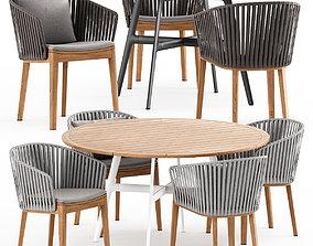 3D model MOOD Chair Tribu and SEAX table Dedon