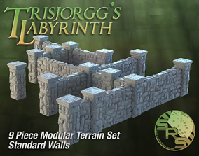 3D print model Stone Walls Modular Terrain Set