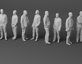 10 Low Poly People Pack Vol 4 3D model game-ready