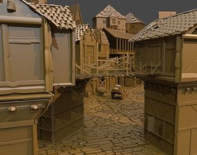 3D model Medieval Dark Town
