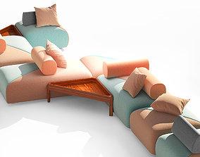 BRIXX Modular garden sofa by Dedon 3D model