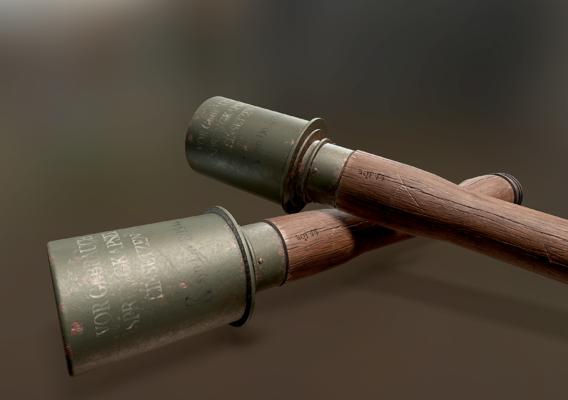 German WW2 Stielhandgranate Grenade