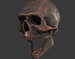 3D asset game-ready Lowpoly Skull