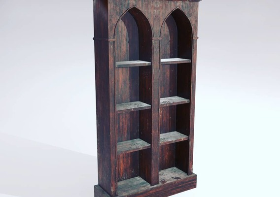 Dusty Bookshelf 3D Model