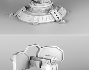 3D print model Collection of protective turrets