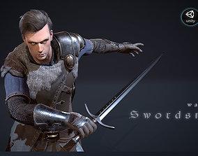 Warrior Swordsman 3D asset