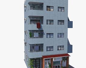 Japanese Blue Building 3D model