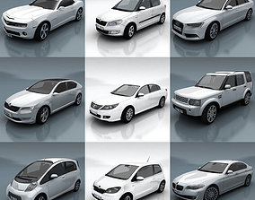 10 - City cars models F 3D asset