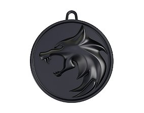 The Witcher Wolf Medallion 3D printable model
