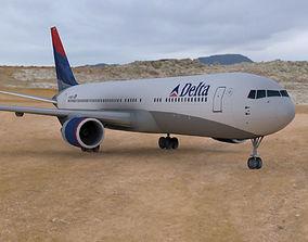 Boeing 767-300 3D asset