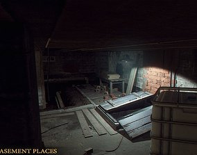 Urban Basement Places 3D asset low-poly