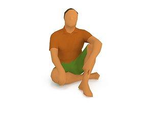 3D model Man 1k 1174