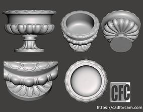 Decorative vase - 3d model for CNC -
