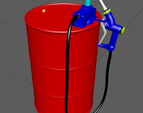 DrumCanB high-poly model 3D