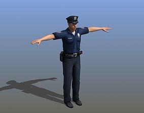 3D model man Police Officer