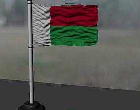 3D model Madagascar flag