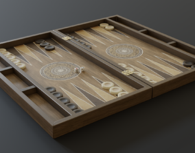 Backgammon 3D asset