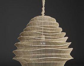 chandelier Roost Bamboo Cloud Chandelier 3D