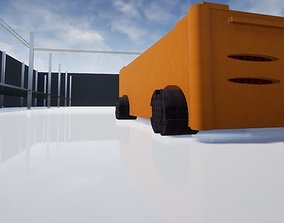 Automated Guided Vehicle 4K GRAPHICS 3D asset