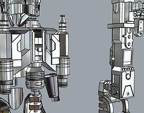 Machine gun and jetpack heavy 3D printable model 2