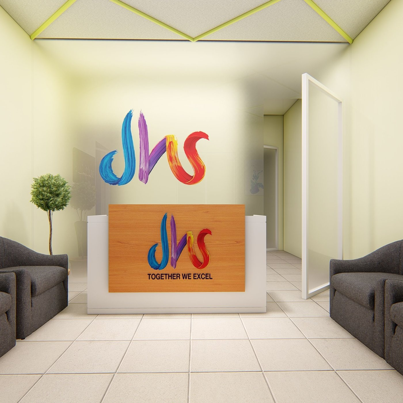 RECEPTION AREA DESIGN AND RENDER IN LUMION 8.5 PRO