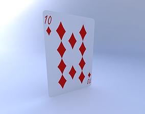 Ten of Diamonds 3D model