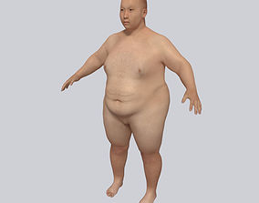 Young Fat Man - Asian Obese Man 3D model