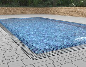 Pool Swimming or Decoration Low Poly 3D asset