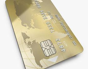 Customizable Credit Card 3D model