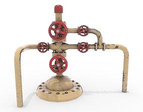 Oil Pumpjack Wellhead 3 3D asset