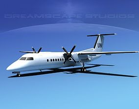 3D model DeHavilland DHC-8-Q300 UN