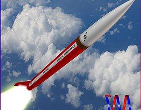 Black Brant VB Sounding Rocket 3D model
