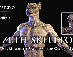 3D asset Zeth Skeleton for Midnight Skeleton for Genesis 8