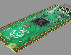 3D asset VR / AR ready Raspberry pi pico