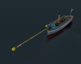 Alfa III Spearhead Torpedo Boat 3D asset realtime